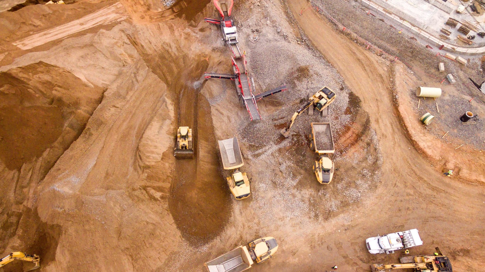 Earthworks industry and mining industry